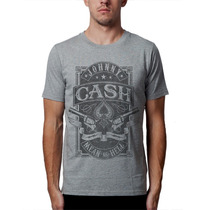 Camiseta Johnny Cash Blusas Moletom Bandas Rock Country