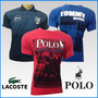 Kit 40 Camisetas Hollister Abercrombie Calvin Klein Bordadas