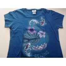 9613 Camiseta Hard Rock Café De Beijing China Original, Azu