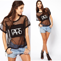Blusa T-shirt Paris Importada Pronta Entrega No Brasil