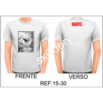Camiseta Marvel Motoqueiro Fantasma Skilldery 15-30