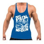 Camiseta Regata Super Cavada Musculação No Pain No Again 20%