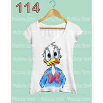 Tshirt Feminina Pato Donald Duck Donaldi Desenho Disney