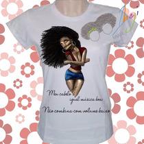 Camiseta Afro Em Poliéster