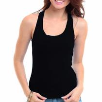 Regata Nadador Lisa - Camiseta Blusa Fem Visco Pura Linda!