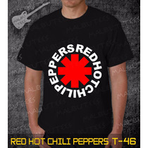 Camisetas Red Hot Chili Peppers Rock Roll Bandas Preta