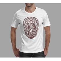 Camiseta Caveira Mechicana Adulto E Infantil Frete Grátis