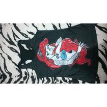 Disney Restyle Rebelde Ariel Pequena Sereia T-shirt Tattoo