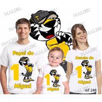 Lembrança De Aniversario Tigor Tiger Camiseta Kit Com 3
