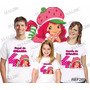 Camiseta Moranguinho Aniversário Personalizada Kit Com 3