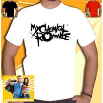 Camiseta My Chemical Romance Camisa Banda Metal Mcr Branca