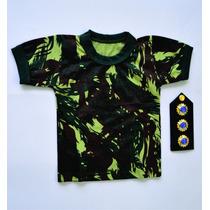 Camiseta Camuflada Infantil 06 Meses A 12 Anos (unissex)