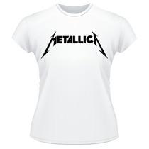 Baby Look Metallica Rock Metal Anos 80 Camiseta Feminina