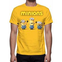 Camisa, Camiseta Filme Minions - 2015 - Estampa Total
