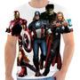 Camiseta Capitão América,hulk,thor,homem De Ferro, Marvel.