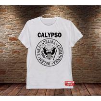 Camiseta Masculina Calypso Ramones Banda Sátira Rock Música