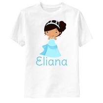 Camiseta A Princesa E O Sapo Personalizada - Tiana Vestido