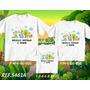 Camisetas Safari Aniversario Kit Com 3 Peças Personagens