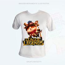 Camiseta Capitão Teemo - League Of Legends Lol - Cogumelos