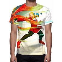 Camisa, Camiseta Game Street Fighter 5 - Karin