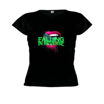 Camiseta Baby Look Falling In Reverse