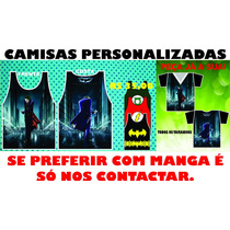 Camisas Do Coringa E Batman, Estampas Na Frente E Costa.