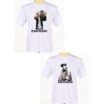 Kit C/ 2 Camisas Estampadas Cantor Rapper Eminem Rap Hip Hop