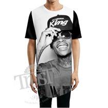 Camiseta Camisetao Masculino Oversized Longline Wiz Khalifa