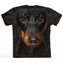 Camisa 3d Dachshund Face The Mountain Original