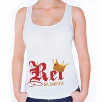 Camiseta Regata Feminina Grávida Com O Rei Na Barriga