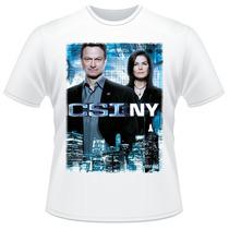 Camiseta Csi Ny New York Mac Taylor E Jo Danville Camisa