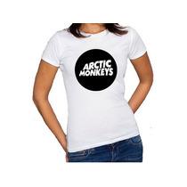 Camiseta Feminina Baby Look Banda Artic Monkeys Algodão