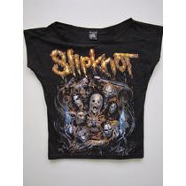Blusinha Bata Cropped Slipknot - Profanus