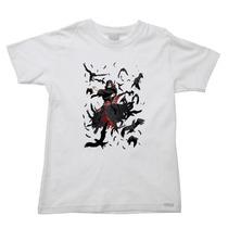 Camiseta Infantil Naruto Itachi Suzano Uchiha Sharingan