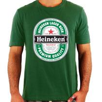 Camiseta Heineken - Rótulo Original - Cerveja - Nova