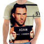 Camisa Adam Levie Personalizada Moroon 5 Sublimacao