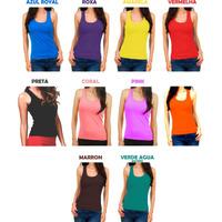 10 Regata Feminina Nadador Atacado Camiseta Blusa Viscolycra
