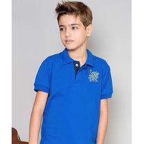 Polo Infantil Paco Kids - Azul