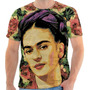 Camiseta,camisa Frida Kahlo Pintura Sublimaçao Personalizada