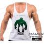 Regata Super Cavada Tank Top Hulk Musculação Maromba