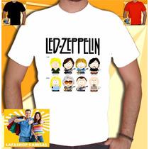 Camiseta Led Zeppelin South Park Camisa Bandas Rock Punk Hea