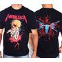 Camiseta De Banda - Metallica - Death Magnetic - Alfinetes