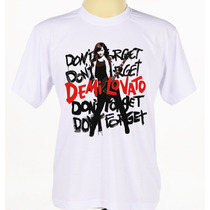 Camisa Camiseta Estampada Cantora Pop Rock Demi Lovato