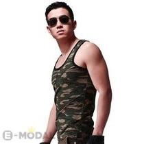 Camiseta Regata Masculina Camuflada Tank