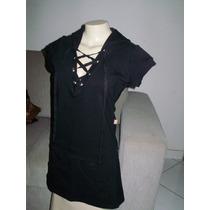 Smack Mini Vestido/ Moletom/ Lycra/ Capuz/ Sobreposição/ P