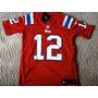 Camisa Futebol Americano Nfl Patriots Vermelha Frete Grátis