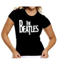 Camisa Beatles Baby Look Feminina Camiseta Mulher Banda Rock
