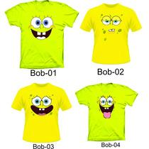 Camisetas Bob Esponja ,camisetas Carinhas Bob Esponja