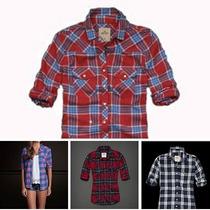 Camisa Blusa Xadrez Feminina Hollister Abercrombie