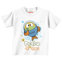 Camiseta Infantil Peixonauta Do Discovery Kids Personalizada